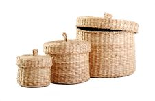 Free Wicker Boxes Royalty Free Stock Photo - 17350045