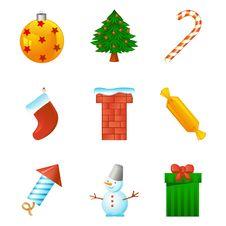 Free Christmas Icon Set Royalty Free Stock Image - 17350086