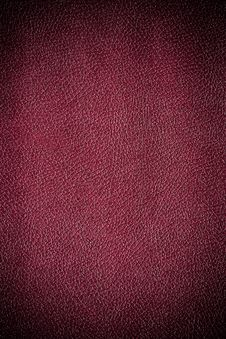 Free Dark Red Leather Background Stock Photos - 17350103