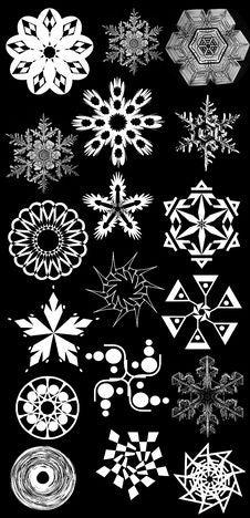 Free Snowflakes Vector Set Royalty Free Stock Image - 17350136