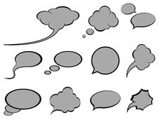 Free Speech Bubbles Stock Photo - 17350170