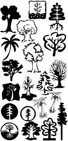 Free Tree Silhouettes Stock Image - 17350301