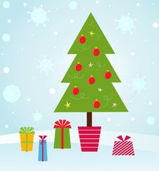Free Christmas Tree Stock Images - 17350334