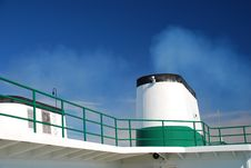Free Boat Chimney Steam On Blue Sky Royalty Free Stock Photo - 17350795