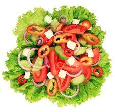 Close-up Of Greek Salad Royalty Free Stock Photo
