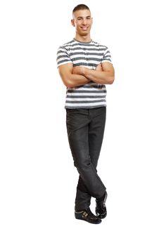 Free Young Handsome Fashion Man Posing In Studio Royalty Free Stock Photography - 17350937