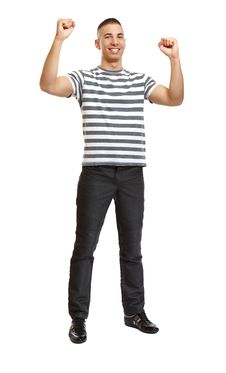 Free Young Successful Fashion Man Posing In Studio Royalty Free Stock Image - 17350976