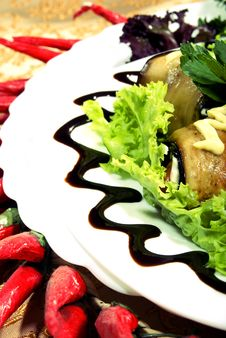 Free Aubergine Appetizer Stock Image - 17351171