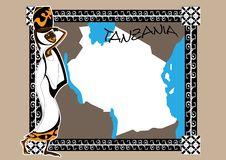 Free Map Of Tanzania Royalty Free Stock Image - 17351576