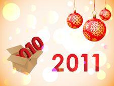 2011 New Years Card Stock Photo
