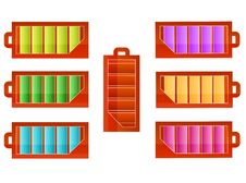 Battery Icons  Set Royalty Free Stock Image