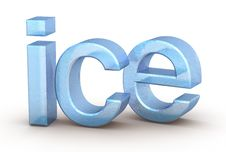 Free Word Ice On White Background Royalty Free Stock Images - 17352189