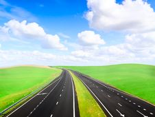 Free Asphalt Two Lines Highway Stock Photography - 17352302