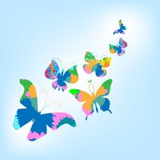Free Butterfly Background Royalty Free Stock Photos - 17352328