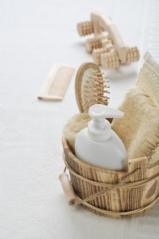 Big Collection Of Objects For Bathing Stock Image