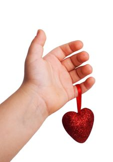 Free Red Heart In The Children S Arm Royalty Free Stock Photos - 17353458