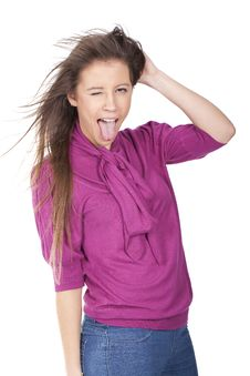 Free Woman Screaming And Pulling Hair Stock Photos - 17353463