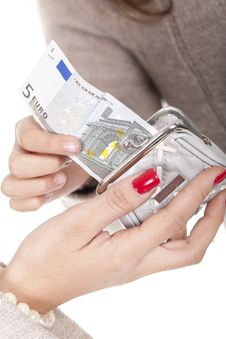 Free Money In A Purse Stock Photos - 17353513