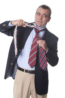 Free Man With Several Ties Stock Images - 17353584