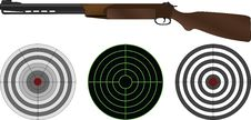 Free Sporting Gun And Targets Royalty Free Stock Image - 17353606