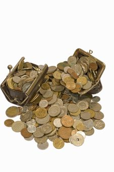 Free Purse And Coins Stock Image - 17353761