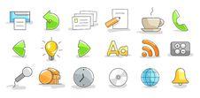 Free Set Of Icons Stock Photos - 17353933