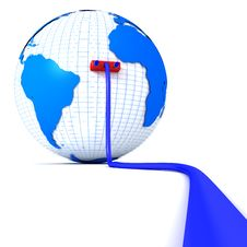 Free Globe Plugged Into Cable Royalty Free Stock Photography - 17354117