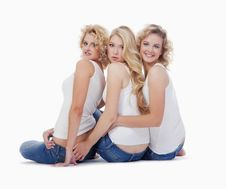 Free Three Young Women Stock Photography - 17354802