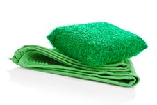 Free Kitchen Napkin And Sponge Royalty Free Stock Photos - 17354828