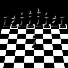 Free Chessmen On Chessboard Royalty Free Stock Image - 17355296