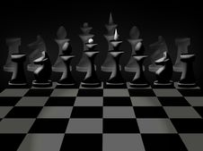Free Chessmen On Chessboard Stock Photos - 17355303