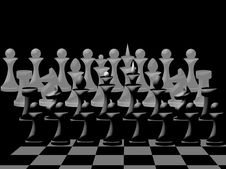 Free Composition Of  Chessmen On Chessboard Stock Images - 17355314