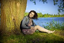 Free Beautiful Woman Near The River Royalty Free Stock Photo - 17355415