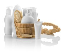 Free Set Of Bathing Accessories Stock Photo - 17356680
