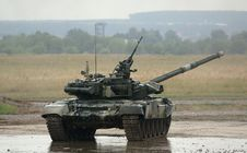 T-90 Is A Russian Main Battle Tank Stock Photo