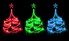 Free Christmas Trees Stock Photo - 17357140