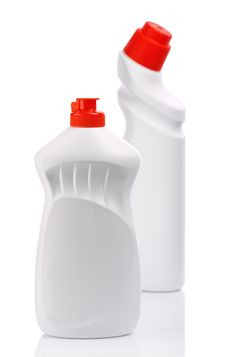 Isolated White Bottles For Clean Royalty Free Stock Images
