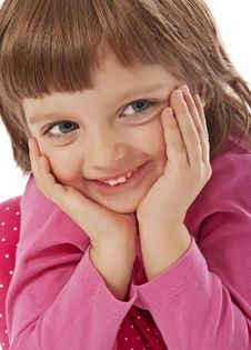 Free Happy Little Girl Portrait Stock Photography - 17357332