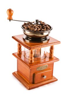 Free Old Coffee Mill Isolated Royalty Free Stock Photo - 17357475
