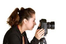 Free Female Photographer Royalty Free Stock Photo - 17357515