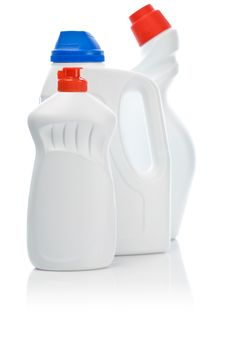 Three Cleaning Bottles Royalty Free Stock Image