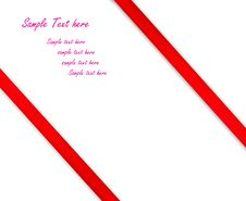 Free Red Satin Ribbon Over White Royalty Free Stock Photos - 17358028
