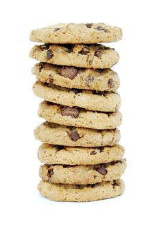 Free Chocolate Chip Cookie Tower Stock Photos - 17358233
