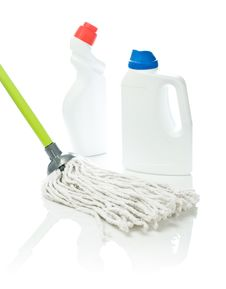 Free Mop And White Cleaners Stock Image - 17358331
