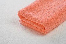 Pink Towel Stock Image