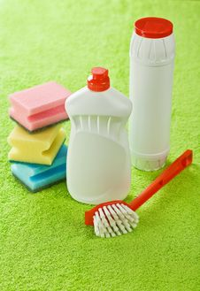 Free Set For Cleaning Royalty Free Stock Images - 17358459