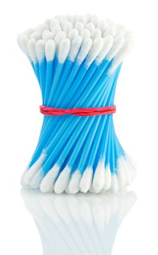 Free Blue Cotton Swabs Royalty Free Stock Photos - 17358698