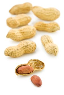 Free Composition Of Peanuts Isolated Royalty Free Stock Photos - 17358898