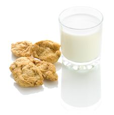 Cookies With Milk Royalty Free Stock Photo