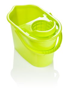 Free Isolated Yellow Bucket Royalty Free Stock Photos - 17358998